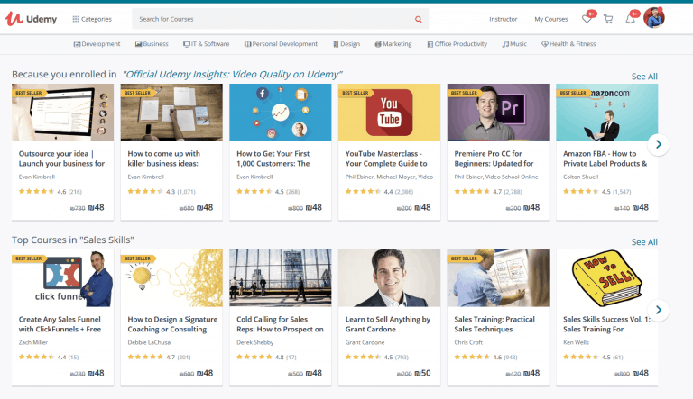 סדרת סקירות – איפה לשים את הקורס שלי udemy אתר הקורסים הגדול בעולם